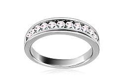 Diamantový prsteň z bieleho zlata KU435