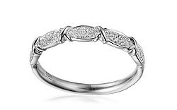 Diamantový prsteň z bieleho zlata Salwa IZBR301A