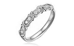Diamantový prsteň z bieleho zlata Selina IZBR302A