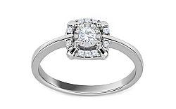 Diamantový prsteň z bieleho zlata Virgee KU534A