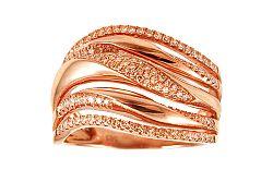 Diamantový prsteň z ružového zlata IZBR232R