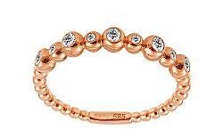 Diamantový prsteň z ružového zlata IZBR236R