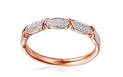 Diamantový prsteň z ružového zlata Salwa IZBR301R c15ec92ed50