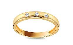 Diamantový prsteň zo žltého zlata KU516