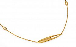 86fe338c7 Dlhý zlatý elegantný náhrdelník 70 cm IZ9501