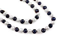 Dvojfarebný perlový náhrdelník PE222 fe78c16c7dc