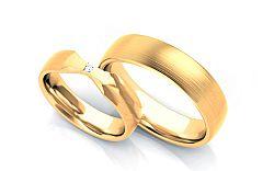 Exkluzívne svadobné obrúčky 0,030 ct s diamantom šírka 5 mm STOBR263