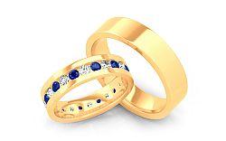 Luxusné obrúčky s modrými diamantmi 1,200 ct Bianco blue STOBR082