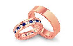 Luxusné obrúčky s modrými diamantmi 1,200 ct Bianco blue STOBR082R