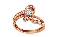 Luxusný zásnubný prsteň Pink princess IZ2970