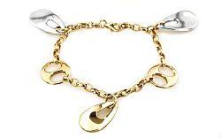 Moderný zlatý retiazkový náramok Fashion zo 14 K zlata IZ3354