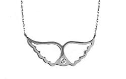 Náhrdelník Anjelské krídla s diamantom IZ2477