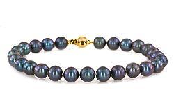 Náramok s tmavými perlami CAMILLE 7 mm PE60