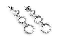 Náušnice diamantové krúžky Evon KU562A