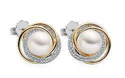Náušnice s Juhomorskými perlami a diamantmi 0.480 ct Themis DB0094N