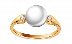 Perlový prsteň s diamantmi 0.020 ct Caitlin DB0049