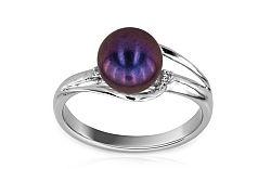 Perlový prsteň so zirkónmi Inez 11 IZ6051