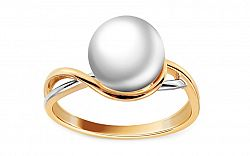 Prsteň s bielou prírodnou perlou Lucette DB0048