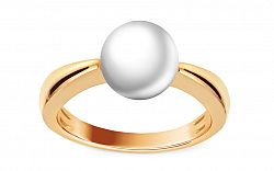 Prsteň s bielou prírodnou perlou Yliana DB0087