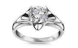 Prsteň s diamantom GIA 1.04 ct, H, Si1 kolekcia Always white CSBR55A