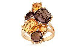 Prsteň s drahými kameňmi a diamantmi Liesse IZBR088YR