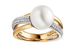 Prsteň s Juhomorskou perlou a diamantmi 0.270 ct Themis DB0094