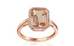 Prsteň s morganitom a diamantmi Gloire IZBR020R