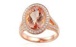 Prsteň s morganitom a diamantmi Odette IZBR021R