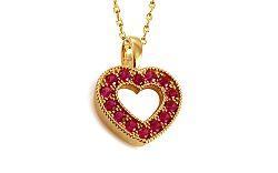 Rubínové srdiečko Diamond Ruby Heart DB004A