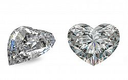 SI1 F 0.49 ct diamant certifikát GIA brus Heart IZDI1473