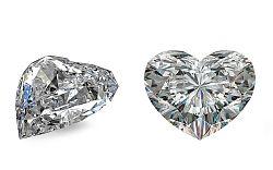 SI1 F 1 ct diamant certifikát GIA brus Heart IZDI999