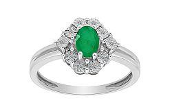 Smaragdový prsteň s diamantmi Lea KU513A