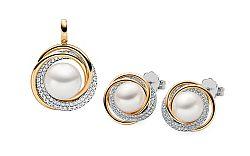 Súprava s Juhomorskými perlami a diamantmi 0.900 ct Themis DB0094S