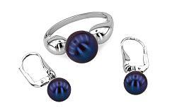 Súprava s modrastými perlami Inez 10 IZ6111