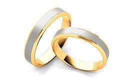 Svadobné obrúčky dvojfarebné šírka 4 mm STOB060-4
