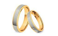 Svadobné obrúčky dvojfarebné šírka 4 mm STOB074-4