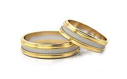 Svadobné obrúčky dvojfarebné šírka 4 mm STOB142-4