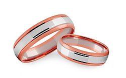 Svadobné obrúčky dvojfarebné šírka 4 mm STOB239R