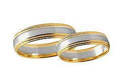 Svadobné obrúčky dvojfarebné šírka 4 mm STOB241