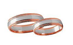 Svadobné obrúčky dvojfarebné šírka 4 mm STOB241R