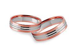 Svadobné obrúčky dvojfarebné šírka 4 mm STOB250R