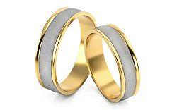 Svadobné obrúčky dvojfarebné šírka 5 mm STOB029-5