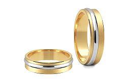 Svadobné obrúčky dvojfarebné šírka 5 mm STOB048-5