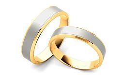 Svadobné obrúčky dvojfarebné šírka 5 mm STOB060