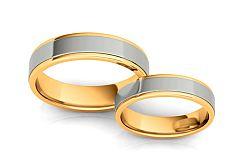 Svadobné obrúčky dvojfarebné šírka 5 mm STOB074