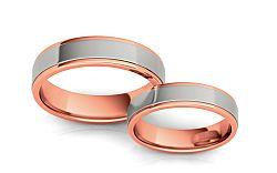 Svadobné obrúčky dvojfarebné šírka 5 mm STOB074R