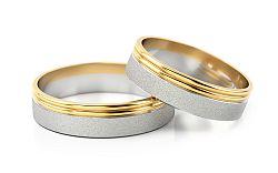 Svadobné obrúčky dvojfarebné šírka 5 mm STOB088
