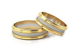 Svadobné obrúčky dvojfarebné šírka 5 mm STOB142-5
