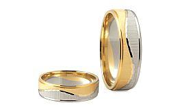 Svadobné obrúčky dvojfarebné šírka 5 mm STOB178-5-5