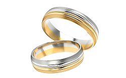 Svadobné obrúčky dvojfarebné šírka 5 mm STOB251